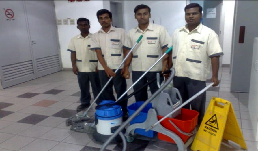 Cleaning Staff for the Jumairah Plaza